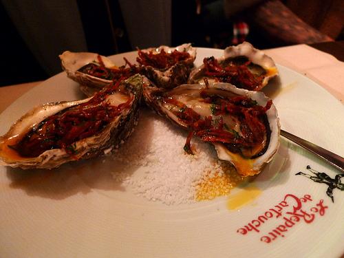 Oysters at Le Repaire de Cartouche restaurant in Paris