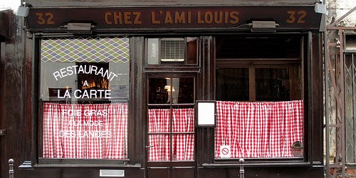 L'Ami Louis restaurant in Paris photo by Food Snob | parisbymouth.com