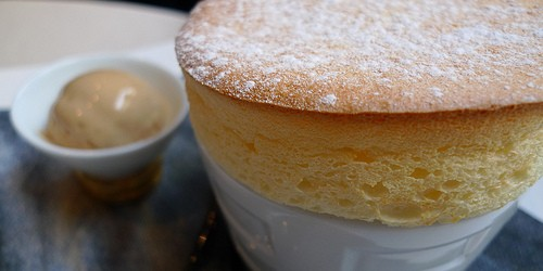 Yuzu soufflé at Simonin restaurant in Paris | parisbymouth.com
