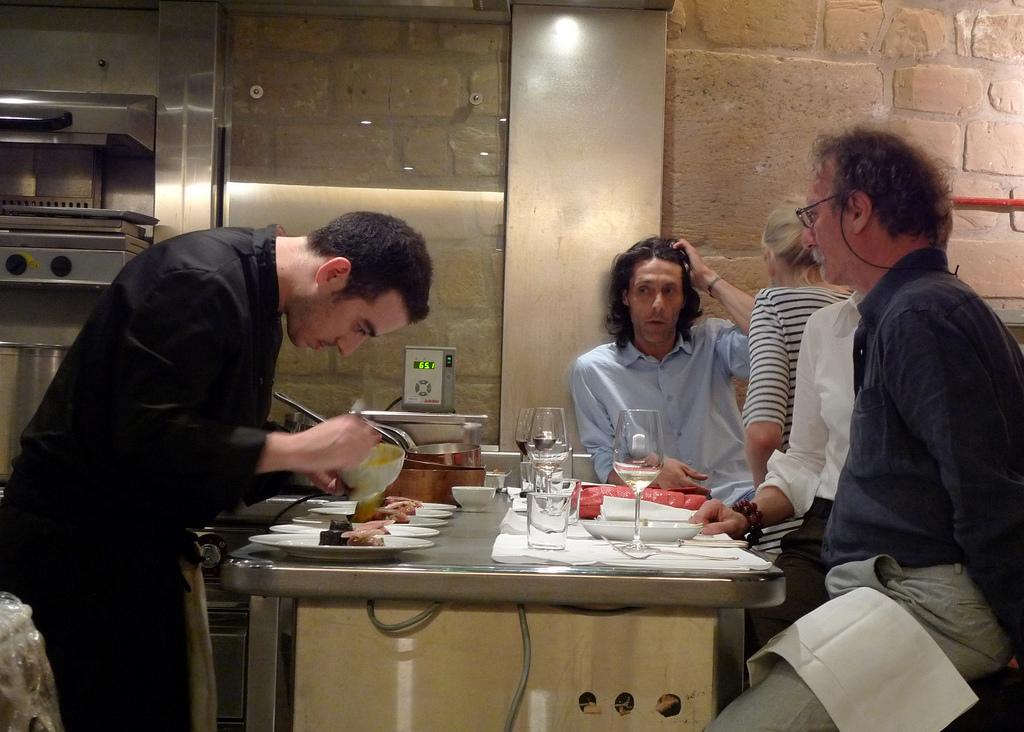 Daniel Rose and Emmanuel Rubin at Spring Restaurant by Meg Zimbeck