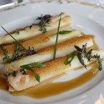 White asparagus from La Grande Cascade by David Lebovitz
