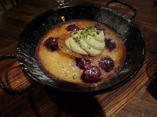 Clafoutis aux Cerises at Le Grand Pan restaurant in Paris | parisbymouth.com