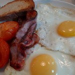 English breakfast at the Bal Cafe by Barbra Austin