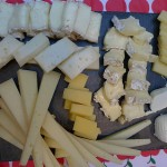 A selection of cheeses for the Les Halles tour