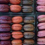Brightly colored macarons in the Latin Quarter