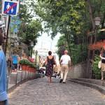 Cobblestone streets in Montmartre