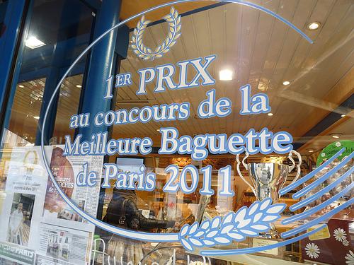 Prize-winning baguettes in Montmartre