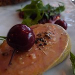 Foie gras torchon with boozy cherries from Frenchie (photo: Barbra Austin)