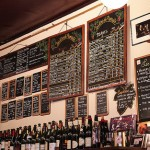 Chalkboard specials at one of the wine bars on our route (photo Ashley Ludaescher)