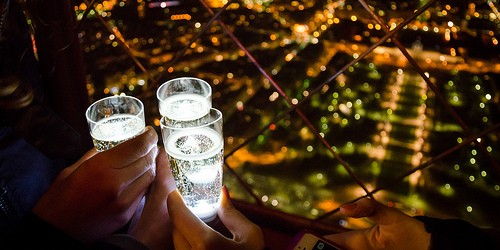Champagne on the Eiffel Tower, photo by Alexander Kachkaev via Flickr