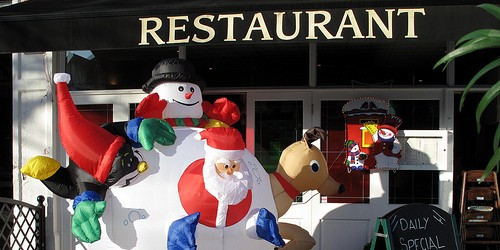 Christmas restaurant, photo by Julian Stallabrass via Flickr