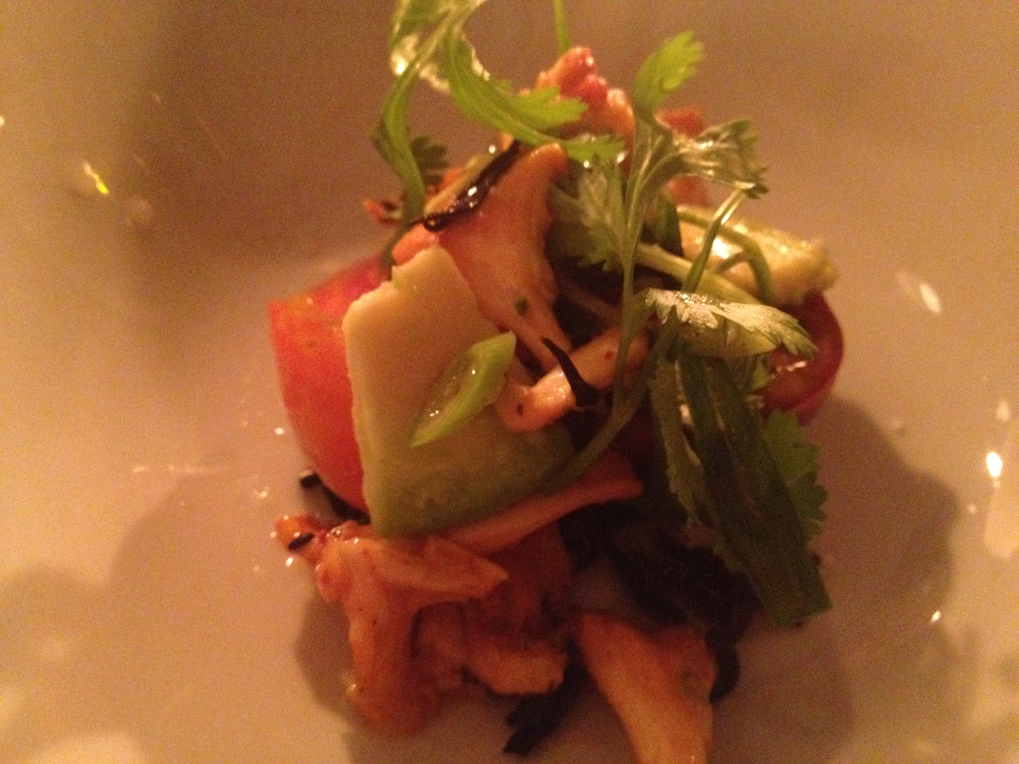 Chanterelle ceviche from the Sporting Project's first pop-up series