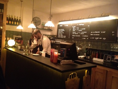The bar at Septime Cave in Paris | parisbymouth.com