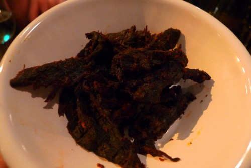 Le Mary Celeste in Paris - beef jerky