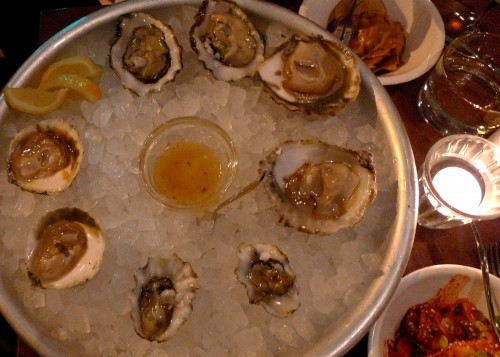 Le Mary Celeste in Paris - oysters