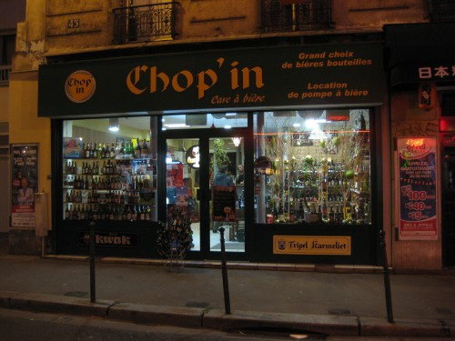 Chop'In beer shop in Paris