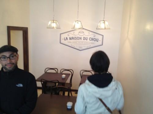 A few tables for coffee and tea at La Maison du Chou |parisbymouth.com