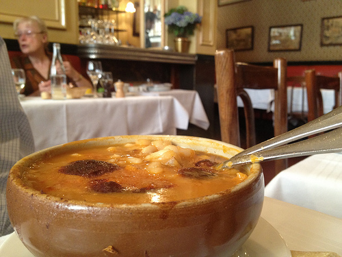 A dish of cassoulet at Allard
