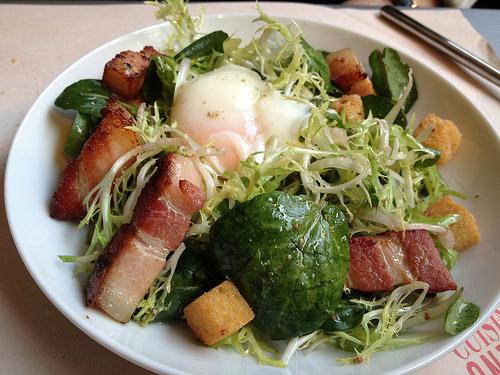 A classic salade frisée from Terroir Parisien