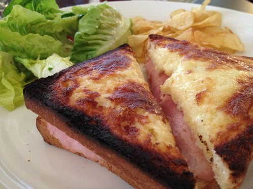 Croque Monsieur with truffle salt. Photo by Catherine Down.