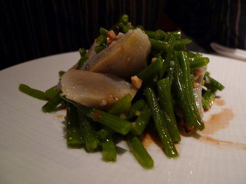 Lazare - Salade de haricots verts, artichauts à l'huile de noisette