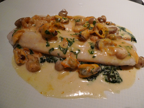 Sole Dieppoise with spinach at Lazare restaurant in Paris | parisbymouth.com