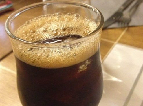 Cold-brewed coffee at Coutume