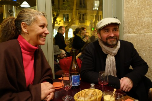Importer turned winemaker François Ecot and Tavel winemaker Nadia Charmasson.