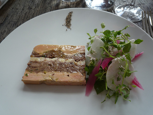 Foie gras and eel Septime