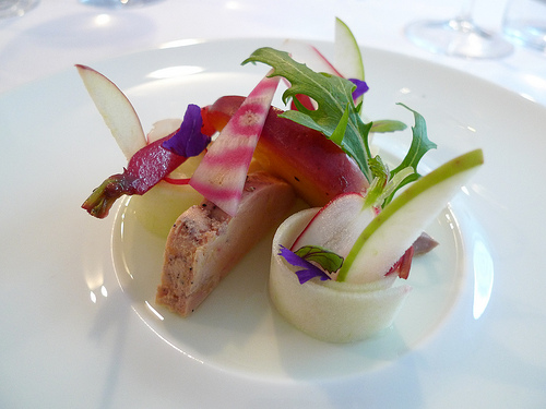 Foie gras with beet and green apple from Kei (photo- Meg Zimbeck)