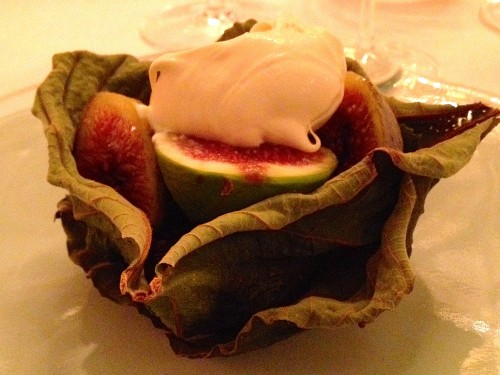 Meurice roasted fig dessert