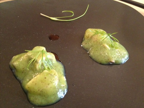 Oysters and kiwi at Restaurant David Toutain in Paris | parisbymouth.com