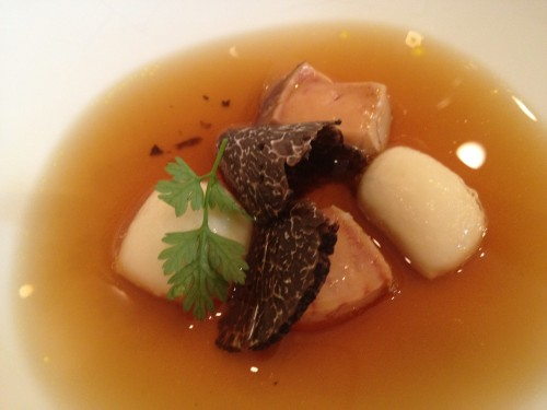 Gnocchi with black truffle and potato broth at Restaurant David Toutain in Paris | parisbymouth.com