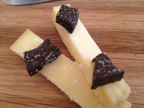24 months Comte with black truffle at Restaurant David Toutain in Paris | parisbymouth.com