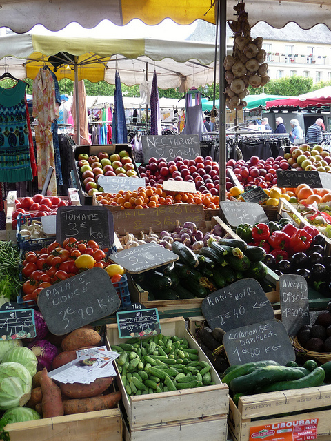 Saturday Market In Bayeux Paris By Mouth