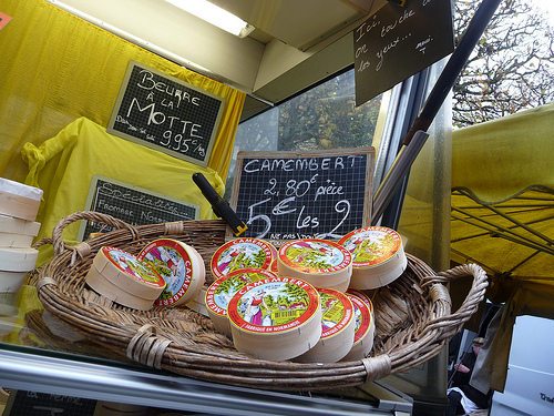 Camembert at the market (photo: Jennifer Greco)