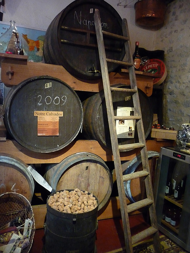 Calvados Ageing Barrels (photo: Jennifer Greco)