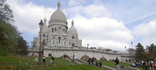 Picnicking at the Sacré-Cœur