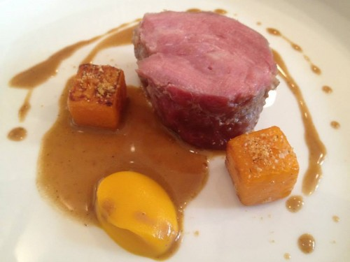 Pork with coffee and pumpkin at Restaurant David Toutain in Paris | parisbymouth.com