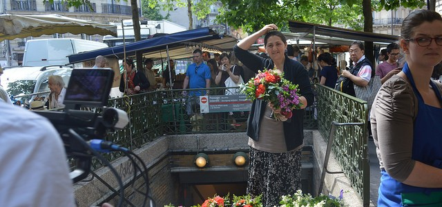 Flower seller at the Raspail market