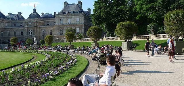 Luxembourg Gardens Paris summer