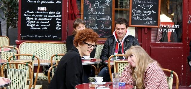 Sidewalk café in Montmartre
