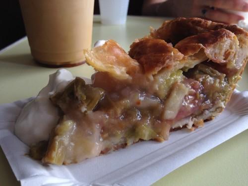 rhubarb pie at bob's bake shop in paris  | parisbymouth.com