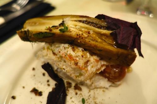 Eggplant - Vivant Cave in Paris with chef Svante Forstorp