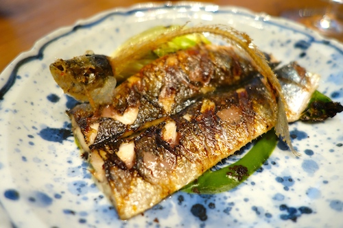 ADPA: grilled sardine with edible head