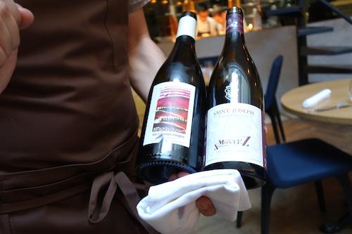 Wines at Porte 12 restaurant in Paris