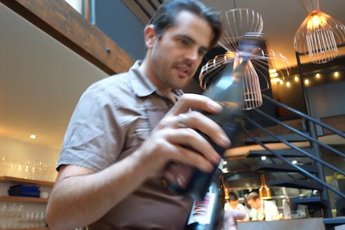 Thibault Passinge, director and sommelier of Porte 12 restaurant in Paris
