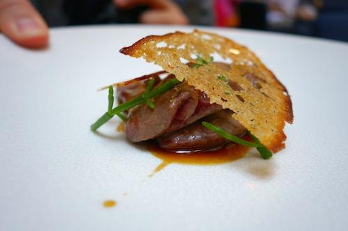 duck hearts at Porte 12 restaurant in Paris