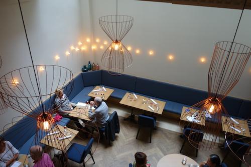 interior at Porte 12 restaurant in Paris