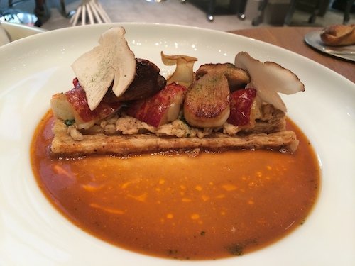 Alain Ducasse at Plaza Athenee lobster